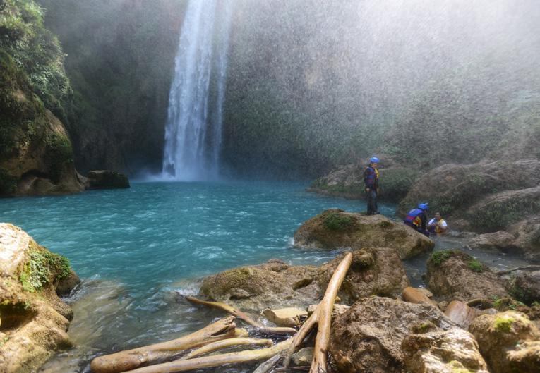 La 3ª cascada es ideal para nadar y su brisa cubre el área.