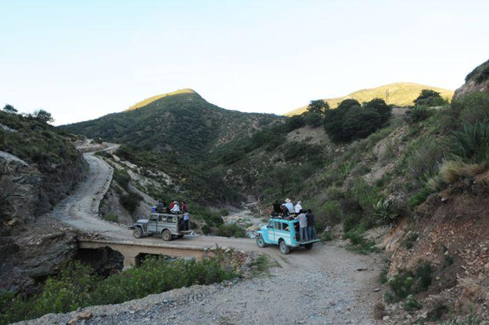 Willys turísticas en la Sierra de Catorce. SLP.