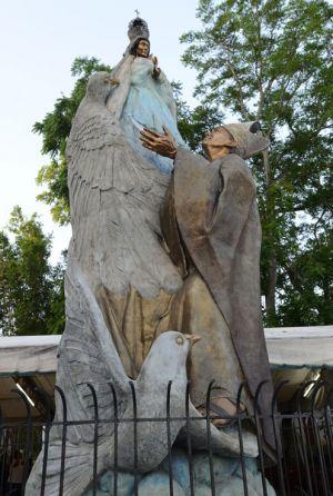 Mensajero de la Paz, Juan Pablo II en atrio de la catedral de Villahermosa, Tab.
