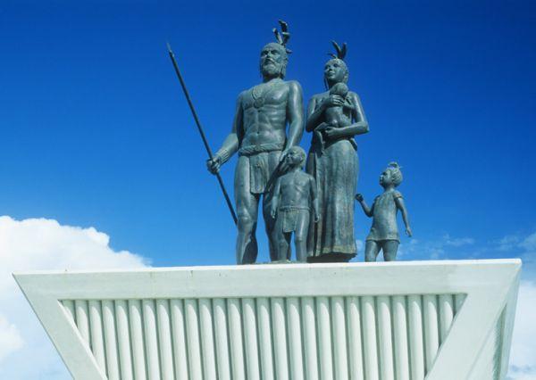 Monumento al mestizaje, Gonzalo Guerreo crea la primera familia mexicana. Chetumal, Q. Roo.