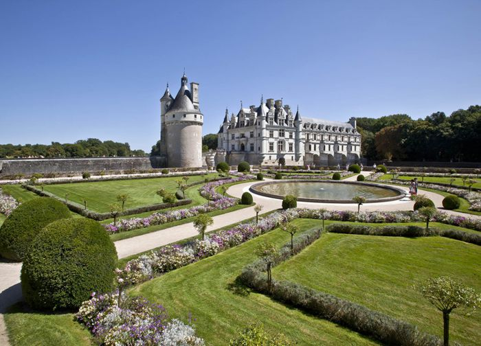 Jardín Catherine de Médicis, Castillo de Chenonceau.