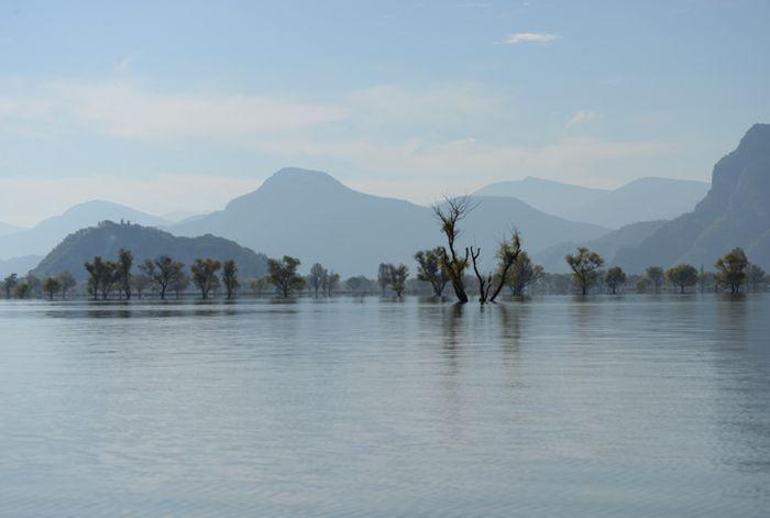 Lago de Metztitlán, inundado cada fin de año.