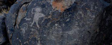 Petroglifo Astronauta en Caborca, Sonora.