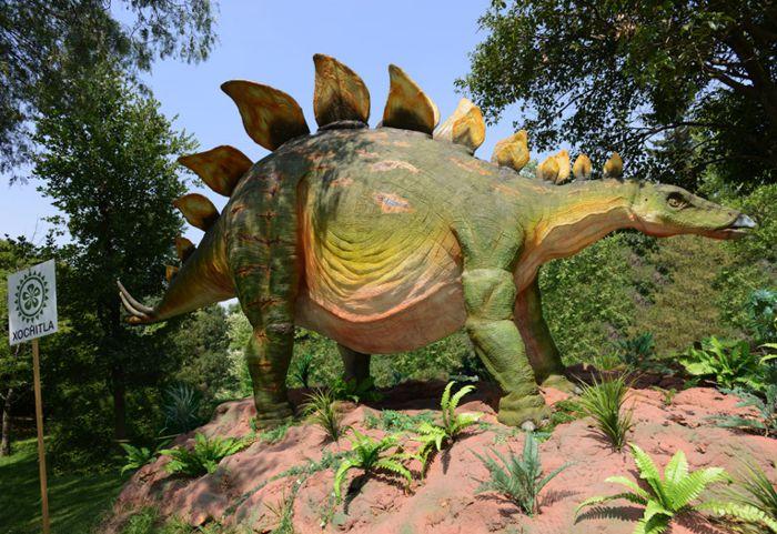 Dinosaurio con placas dorsales para ataque y defensa