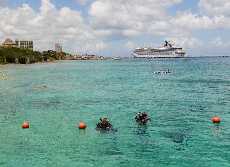 Buceo y cruceros, actividades que identifican a Cozumel