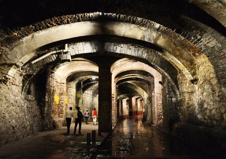 Túneles bajo el centro de la Cd de Guanajuato.