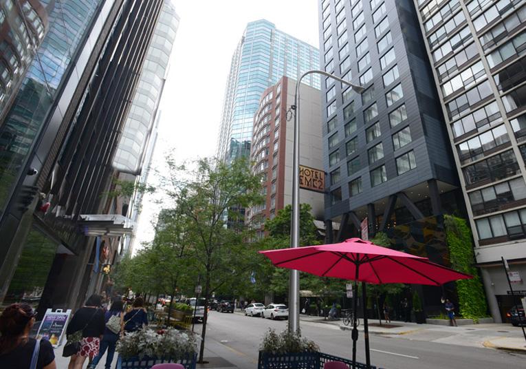 Hotel EMC2, ubicado en 228 E. Ontario, Chicago.